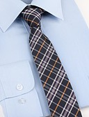 זול עניבות ועניבות פרפר לגברים-עניבת צווארון - משובץ פוליאסטר מסיבה / עבודה / בסיסי בגדי ריקוד גברים