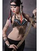 hesapli Göbek Dansı Giysileri-Göbek Dansı Üstler Kadın's Performans Pamuklu / Metal Düğme / Bakır Madeni Paralar