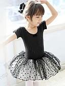 Недорогие Детская танцевальная одежда-Балет Платья Учебный Хлопок Короткие рукава Средняя талия Принцесса
