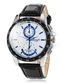 baratos Relógio Elegante-Homens Relógio de Pulso Relógio Casual PU Banda Amuleto / Relógio Elegante Preta / Branco / Marrom