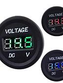 billige Bukser og skjørt til damer-bil motorsykkel dc 12v til 24v LED digitale voltmeter