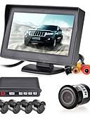 זול חולצה-12V 4 חניה לרכב מצלמת וידאו LCD חיישני תצוגת צג להפוך אזעקת זמזם ערכת מערכת רדאר גיבוי