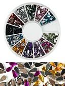 baratos Gravatas e Gravatas Borboleta-1 pcs Purpurina Nail Art Kit Jóias de Unhas Adorável arte de unha Manicure e pedicure Diário Fashion / Acrílico / Jóias de unha