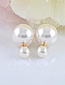 preiswerte Überbekleidung-Damen Perle Ohrstecker - Perle, Künstliche Perle Modisch Weiß Für Alltag