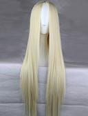 halpa Hääpuvut-Synteettiset peruukit Suora Vaaleahiuksisuus Epäsymmetrinen leikkaus Synteettiset hiukset Luonnollinen hiusviiva Vaaleahiuksisuus Peruukki Naisten Pitkä Suojuksettomat