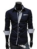levne Pánské košile-Pánské - Jednobarevné Větší velikosti Košile Bavlna Klasický límeček Štíhlý