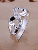 preiswerte Damen Pullover-Damen Statement-Ring - versilbert, Diamantimitate Unendlichkeit Luxus 6 / 7 / 8 Für Hochzeit / Party / Alltag / Zirkon
