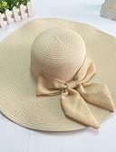 billige Moderigtige hatte-Dame Afslappet Hovedtørklæde Ensfarvet / Blød Hat  / Stråhat / Beige / Hvid / Gul