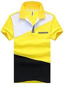 tanie Męskie koszule-Polo Męskie Prosty / Vintage / Aktywny, Styl formalny / Klasyczny / Sportowy Bawełna Kołnierzyk koszuli Solidne kolory / Nadruk / Wzór / Krótki rękaw