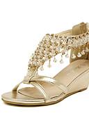 abordables Relojes Deportivo-Mujer Zapatos Semicuero Verano Plataforma / Tacón Cuña Cristal Plata / Oro / Tacones de cuña