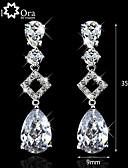 povoljno Zaštitne folije za iPhone-Kubični Zirconia Vrhunski kristal Dangling Zabava Posao Elegantno Zircon Kubični Zirconia Naušnice Jewelry Obala Za