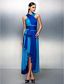 preiswerte Abendkleider-A-Linie V-Ausschnitt Asymmetrisch Jersey Muster Cocktailparty / Abiball / Formeller Abend Kleid mit Schärpe / Band / Plissee durch TS Couture®