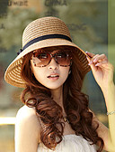 cheap Fashion Hats-Women's Holiday Sun Hat - Solid Colored / Rivet / Beige / Brown / Summer / Hat & Cap