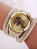cheap Bracelet Watches-Women's Quartz Bracelet Watch Casual Watch PU Band Elegant Fashion Black Blue Red Pink