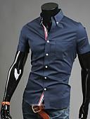 billige Herreskjorter-Tynd Herre - Ensfarvet Forretning Afslappet Plusstørrelser Skjorte