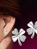 ieftine Romantic Lace-Pentru femei Zirconiu Cubic Cercei Stud - Plastic, Argintiu Floare stil minimalist, Modă Argintiu Pentru Nuntă Petrecere Zilnic