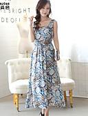 preiswerte Angebote der Woche-Damen Strand A-Linie Kleid Paisley-Muster Midi
