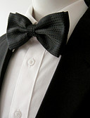 cheap Men's Ties & Bow Ties-Men's Party Work Rayon Bow Tie - Solid Colored Bow Layered Basic