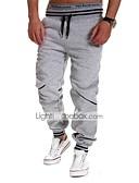 hesapli Erkek Pantolonları ve Şortları-Erkek Actif Pamuklu Salaş Actif İnce Eşoğman Altı Pantolon Solid Çizgili