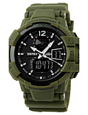 cheap Couple Watches-SKMEI Men's Sport Watch Military Watch Wrist Watch Quartz Black / Green 30 m Water Resistant / Water Proof Alarm Calendar / date / day Analog-Digital Red Green Blue / Chronograph / LCD