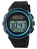 cheap Sport Watches-SKMEI Men's Sport Watch / Wrist Watch / Digital Watch Alarm / Calendar / date / day / Chronograph Rubber Band Black / Solar Energy / Solar / Water Resistant / Water Proof / LCD / Two Years