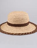 billige Skjerf til damer-Dame Kurvevarer Headpiece-Avslappet / Utendørs Hatter 1 Deler Head circumference 57cm