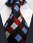 cheap Men's Ties & Bow Ties-Men's Party Basic Rayon Necktie - Rainbow Check Basic