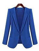 cheap Women's Blazers-Women's Work Simple Casual Spring Fall Blazer,Solid Notch Lapel Long Sleeve Regular