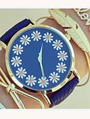 preiswerte Modische Uhren-Damen Armband-Uhr PU Band Blume / Modisch / Ein Jahr