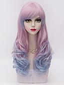 preiswerte Exotische Herrenunterwäsche-Synthetische Perücken Natürlich gewellt Ombre Synthetische Haare Ombre Perücke Damen Kappenlos Lila