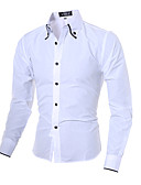 cheap Men's Shirts-Men's Chinoiserie Cotton Shirt - Solid Colored Classic Collar
