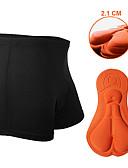 preiswerte Höschen-Nuckily Herrn Fahrradunterwäsche - Schwarz Fahhrad Unterwäsche Shorts / Undershort / Gepolsterte Shorts, 3D Pad, Rasche Trocknung, Atmungsaktiv Polyester Patchwork