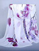 cheap Fashion Scarves-Women's Outdoor Chiffon Rectangle - Floral Basic