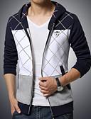זול טרנינגים וקפוצ'ונים לגברים-קולור בלוק Jacket hoodie מידות גדולות בגדי ריקוד גברים