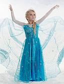 povoljno Haljine za male djeveruše-Djevojka je Pamuk Akril Kolaž Sva doba Dugih rukava Haljina Čipka Plava