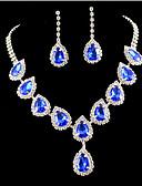 זול שמלות נשים-קריסטל פרנזים סט תכשיטים - זירקוניה מעוקבת, יהלום מדומה מסיבה, אופנתי, צבעוני לִכלוֹל זהב / כחול עבור Party / אירוע מיוחד / יוֹם הַשָׁנָה / עגילים / שרשראות
