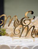 זול הינומות חתונה-קישוטים לעוגה נושא קלאסי זוג קלסי פלסטיק קשיח חתונה יוֹם הַשָׁנָה מסיבת רווקות עם 1 OPP