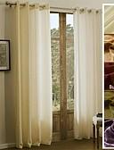 זול הינומות חתונה-פאנל אחד טיפול חלון קאנטרי מודרני ים- תיכוני בארוק ארופאי מעצב , אחיד חדר שינה פוליאסטר חוֹמֶר וילונות וילונות קישוט הבית For חַלוֹן