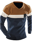 cheap Men's Sweaters & Cardigans-Men's Weekend Long Sleeve Pullover - Color Block V Neck