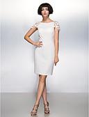 preiswerte Cocktailkleider-Eng anliegend U-Ausschnitt Knie-Länge Chiffon Cocktailparty Kleid mit Blume durch TS Couture®