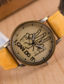 preiswerte Kleideruhr-Damen Armbanduhr Armbanduhren für den Alltag PU Band Modisch / Uhr mit Wörtern Schwarz / Ein Jahr