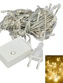 cheap Men's Shirts-JIAWEN® 10M 4W 100-LED 8-Mode Warm White Light Decoration String Lights (EU Plug , AC 220V)