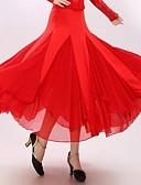 ieftine Rochii Damă-Dans de Societate Rochii & Fuste Pentru femei Performanță Ίνα Γάλακτος Drapat Fustă / Dans modern / Sală de bal