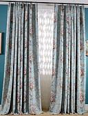 preiswerte Abendkleider-Maßgfertigt Verdunkelung Verdunklungsvorhänge Vorhänge zwei Panele 2*(W183cm×L213cm) Blau / Schlafzimmer