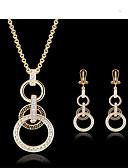 tanie Kwarcowy-Damskie Biżuteria Ustaw Zestawy biżuterii - Cyrkonia, 18K Gold Plated Gold