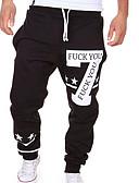 hesapli Erkek Pantolonları ve Şortları-Erkek Actif Temel Pamuklu Salaş Salaş Actif Eşoğman Altı Chinos Bol Pantolon Solid Harf