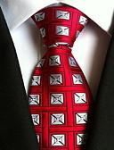 hesapli Erkek Kıravatları ve Papyonları-Erkek Parti İş Temel Polyester Boyun Bağı - Desen