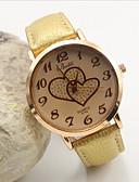 cheap Fashion Watches-Women's Quartz Wrist Watch Casual Watch Leather Band Elegant Fashion Black White Orange Brown Gold