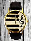 baratos Relógios da Moda-Mulheres Relógio de Pulso Relógio Casual PU Banda Vintage / Casual / Fashion Preta / Aço Inoxidável / Um ano / Tianqiu 377