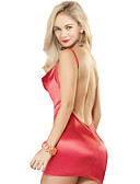 cheap Women's Nightwear-Women's Sexy Chemises & Gowns Nightwear - Backless, Solid Colored